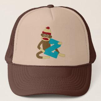 Sock Monkey Monogram Boy Z Trucker Hat