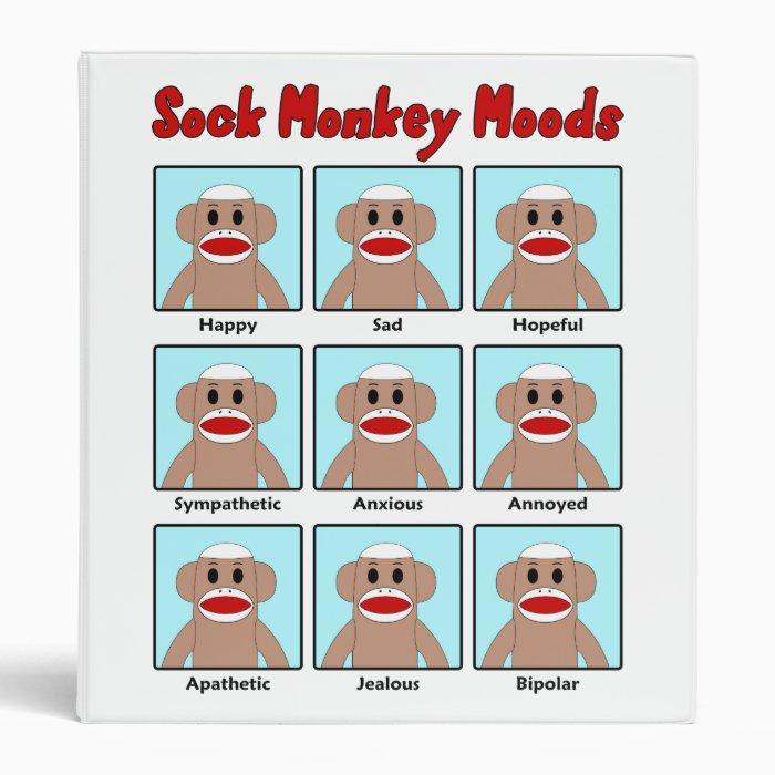Sock Monkey Moods Binder