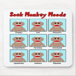 "Sock Monkey Moods Mousepad<br><div class=""desc"">It can be difficult to tell how your sock monkey is feeling.  This handy guide can help!</div>"
