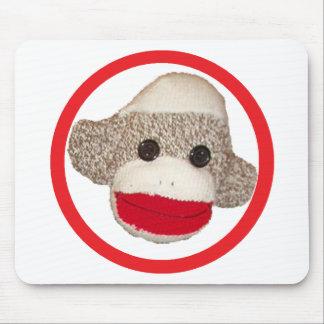 Sock monkey mouse pad