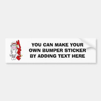 Sock Monkey Nurse T-shirts and Gifts Car Bumper Sticker