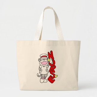 Sock Monkey Nurse T-shirts and Gifts Large Tote Bag