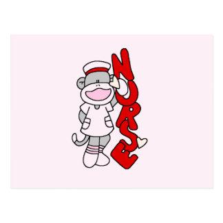 Sock Monkey Nurse T-shirts and Gifts Postcard