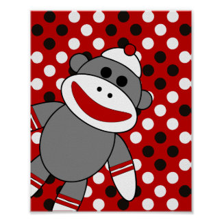 Sock Monkey Nursery Wall Art
