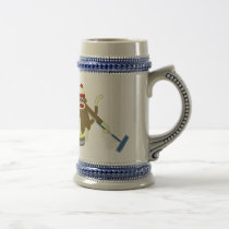 Sock Monkey Olympic Curling Beer Stein