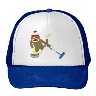 Sock Monkey Olympic Curling Trucker Hat