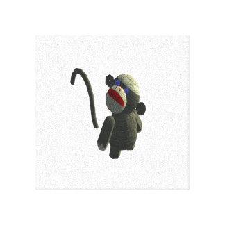 Sock Monkey on Canvas Canvas Print