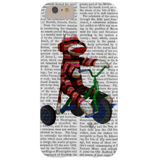 Sock Monkey on Tricycle Barely There iPhone 6 Plus Case