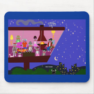 Sock Monkey Party Too Mouse Pad