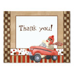 Sock Monkey Pedal Car, Thank You Note Cards