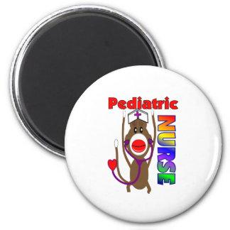 Sock Monkey Pediatric Nurse Gifts 2 Inch Round Magnet