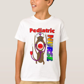Sock Monkey Pediatric Nurse Gifts T-Shirt
