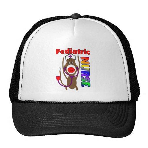 Sock Monkey Pediatric Nurse Gifts Trucker Hat