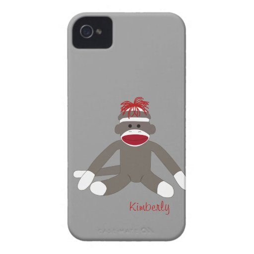 Sock Monkey Personalized iPhone 5 iPhone 4 Case-Mate Cases
