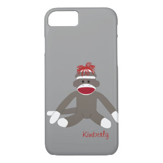 Sock Monkey Personalized iPhone 5 iPhone 8/7 Case