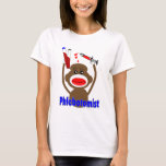 Sock Monkey Phlebotomist Gifts--Adorable T-Shirt