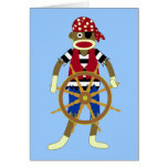 Sock Monkey Pirate Cards