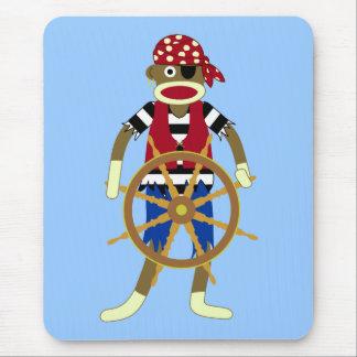 Sock Monkey Pirate Mouse Pad