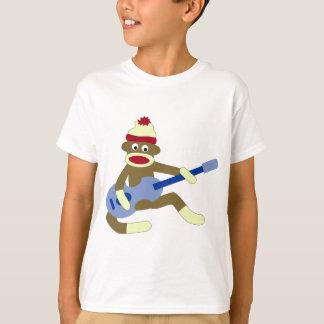 Sock Monkey Playing Blue Guitar T-Shirt