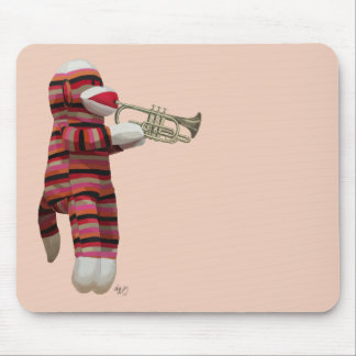 Sock Monkey Playing Trumpet 2 Mouse Pad