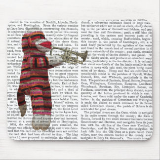 Sock Monkey Playing Trumpet Mouse Pad