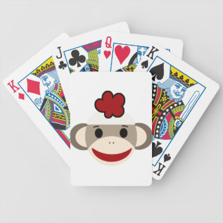 sock monkey bicycle playing cards