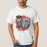 Sock Monkey Police custom name value t-shirt