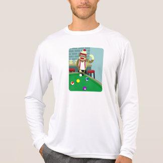 Sock Monkey Pool Billiards Player Tee Shirt