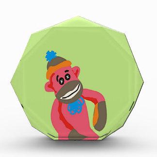 Sock Monkey Pop Art Add Name Text Awards