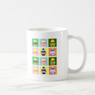 Sock Monkey Pop Art Coffee Mug