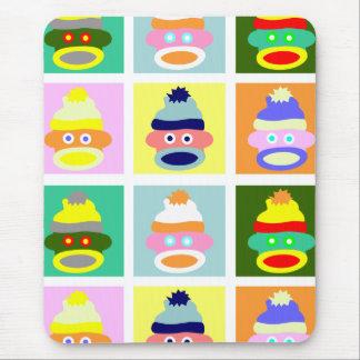 Sock Monkey Pop Art Mouse Pad