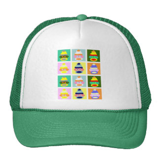Sock Monkey Pop Art Trucker Hat