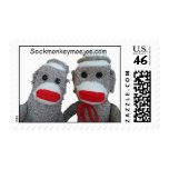 Sock Monkey Postage Stamp