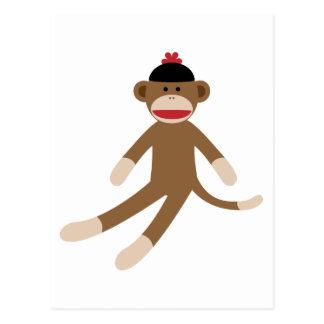 sock monkey postcards