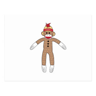 Sock Monkey Postcard