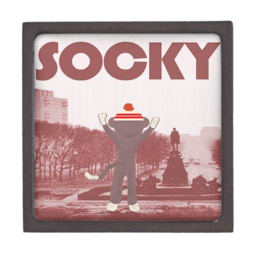 Sock Monkey Premium Keepsake Box