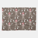 Sock Monkey Print Hand Towels