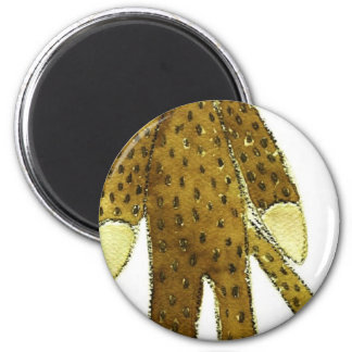 sock monkey red lips 2 inch round magnet