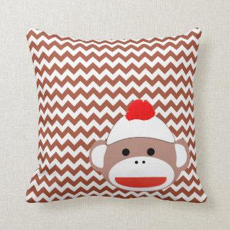 Sock Monkey Retro Art, Adorable! Pillow