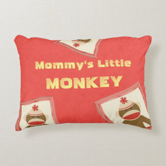 Sock Monkey Reversible Decorative Pillow