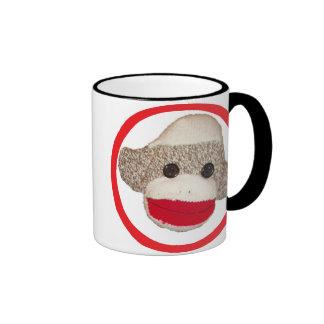 Sock monkey ringer mug