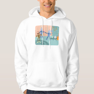 Sock Monkey Robot Cocktail Party Hoodie