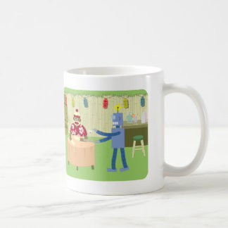 Sock Monkey Robot Waiter Coffee Mug