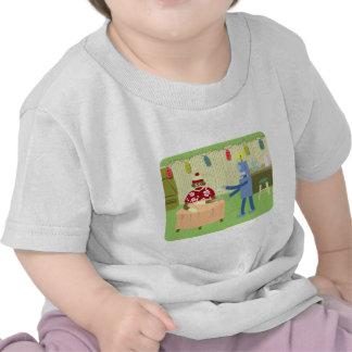Sock Monkey Robot Waiter T-shirt