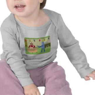 Sock Monkey Robot Waiter Tee Shirts