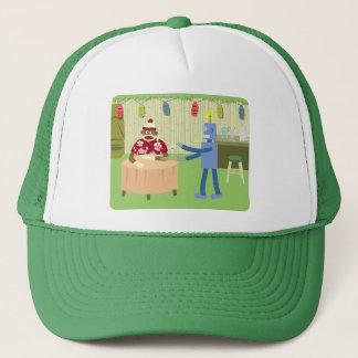 Sock Monkey Robot Waiter Trucker Hat