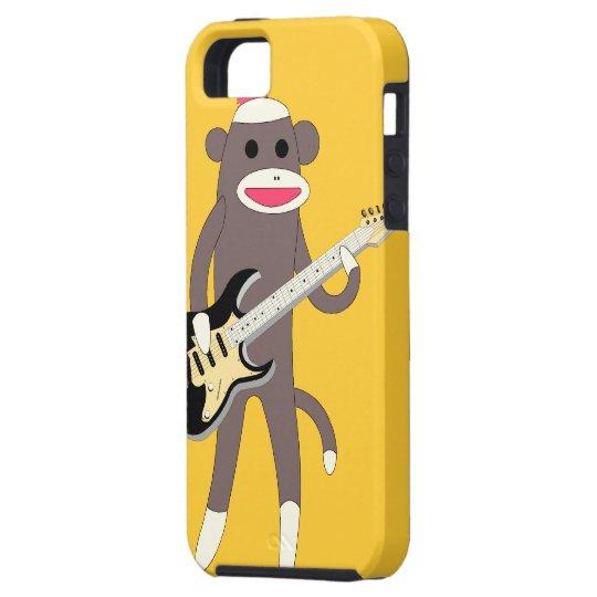 Sock Monkey Rocks w/ Electric Guitar - Iphone 5 iPhone SE/5/5s Case