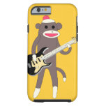 Sock Monkey Rocks w/ Electric Guitar - iPhone 6 ca Tough iPhone 6 Case