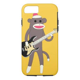 Sock Monkey Rocks w/ Electric Guitar - iPhone 7 ca iPhone 8/7 Case