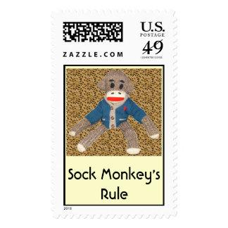 Sock Monkey s Rule Postage